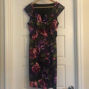 Xscape purple floral dress. Perfect for weddings!